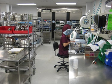 New Central Sterile Processing Assembly Area